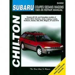 Subaru Coupes Sedans & Wagons Chilton Repair Manual covering the Brat Impreza Justy Legacy Loyale Outback Sedan Std