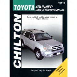 Toyota 4Runner Chilton Repair Manual covering all models for 2003-09