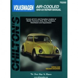 Volkswagen Air-Cooled Models Chilton Repair Manual covering Beetle Karmann Ghia Bus Fastback Notchback and Squareba