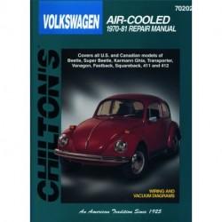 Volkswagen Air-Cooled Chilton Repair Manual for 1970-81 covering Beetle Super Beetle Karmann Ghia Transporter Vanag