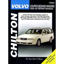 Volvo Coupes Sedans and Wagons Chilton Repair Manual for 1990-98 covering the Volvo Coupe 240 Series 740/760/780 Se