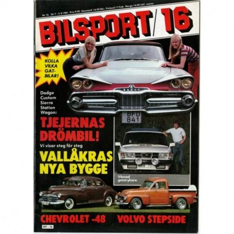 Bilsport nr 16  1981