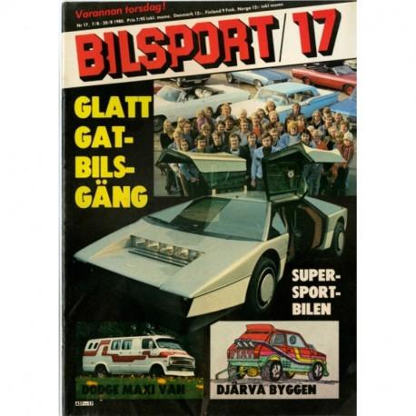Bilsport nr 17  1980