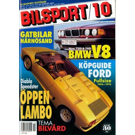 Bilsport nr 10  1992