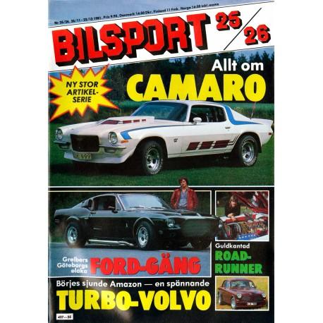 Bilsport nr 25  1981